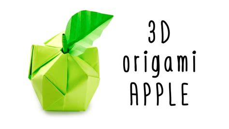 Origami Apple - 3d origami apple tutorial origami fruit paper kawaii