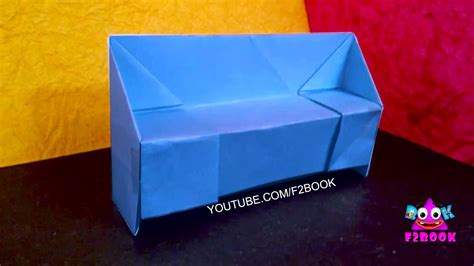 How To Craft A Paper - origami sofa set how to make paper sofa craft work