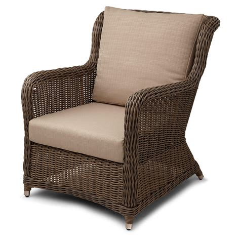 Wicker Patio Chair Alcee Resin Wicker Outdoor Chair And Ottoman Set Outdoor