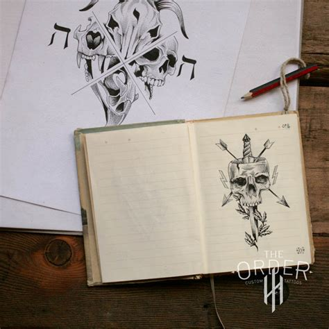 sketchbook idea sketchbook ideas the order custom tattoos