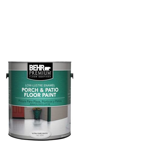 porch and patio paint behr premium 1 gal 6050 ultra white low lustre