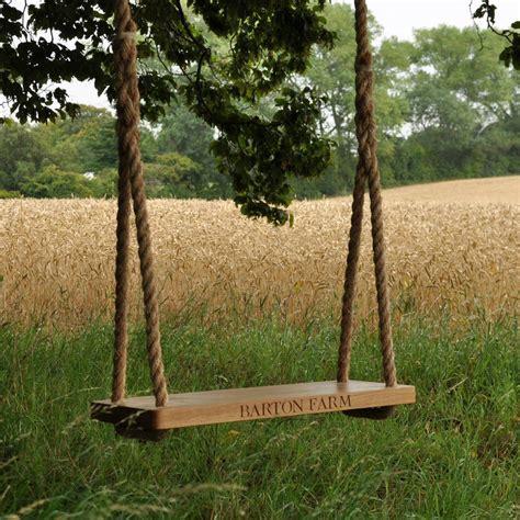 swing the tree personalised oak garden tree swing by the oak rope