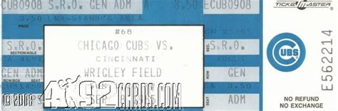 Chicago Cubs Box Office by Pete Notable Tickets