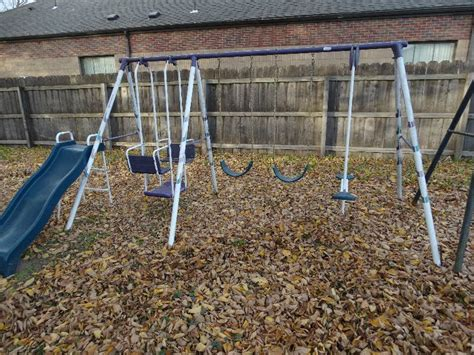 Hedstrom Swing Set by Hedstrom Swing Set W Slide Garden Plain Ks Estate