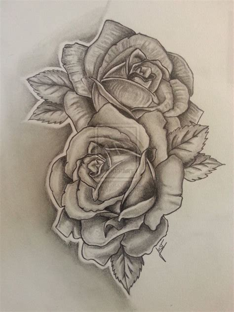 rose drawings tattoos pesquisa flower tattoos