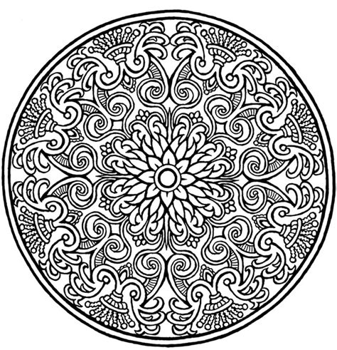 mandala design intricate coloring pages daily two cents