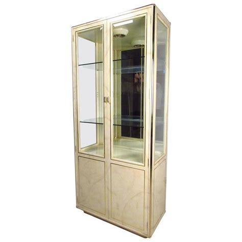 vitrine modern mid century modern goatskin vitrine by stuart for