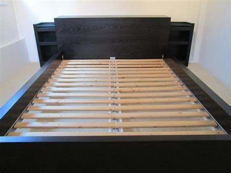 ikea malm bed with storage headboard oak bay