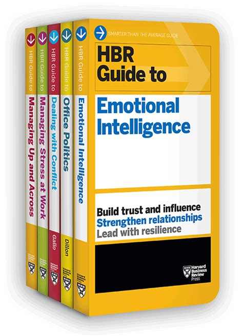 hbr guides to emotional intelligence at work collection 5 books hbr guide series books search dillon