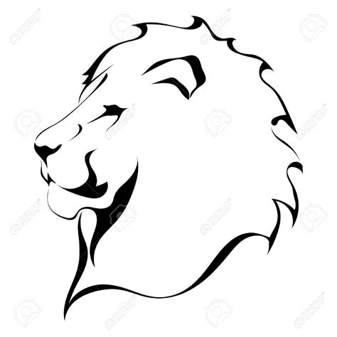 lion outline tattoo aslan clipart black and white outline clipground