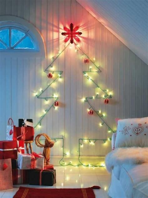 tree lights on wall 15 non traditional tree ideas