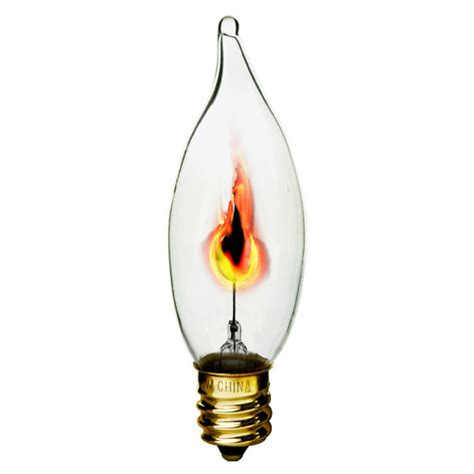 flicker light bulb 3 watt clear flicker bulb bulbrite 410313