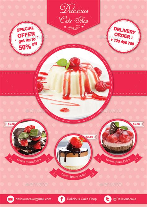 Cake Flyer Template By Avindaputri Graphicriver Cake Flyer Template