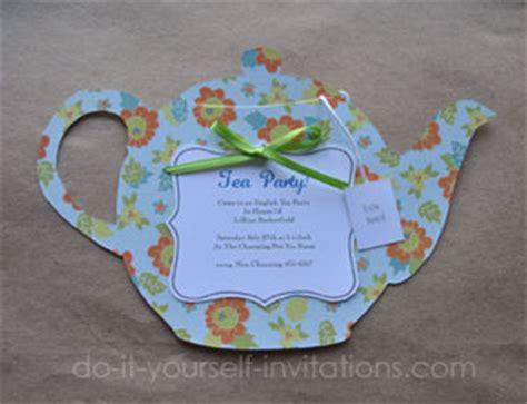 Diy Tea Party Invitations Cute And Crafty Tea Pots Teapot Invitation Template Printable