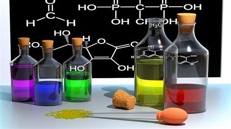 3d chemicals illustration gratuite chimie 201 cole couleur bouteilles
