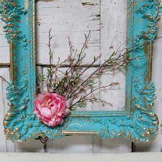 large frame wall decor aqua blue ornate accented gold diy flayer on pinterest burlap flowers elizabeth craft