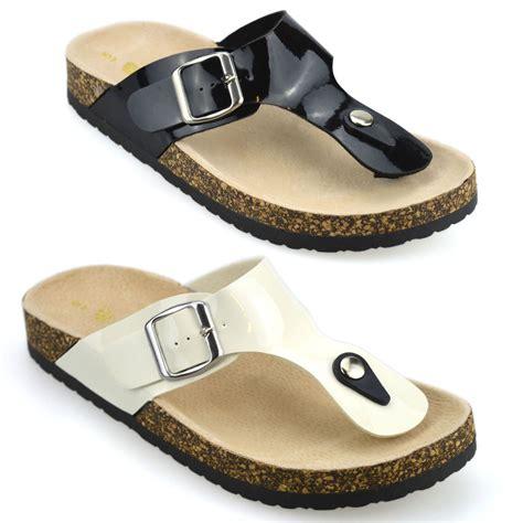 flat mules shoes womens leather flat toe post flip flops summer