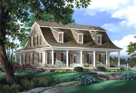 Colonial Home Designs Gambrel Roof House Plans Colonial House Plans At
