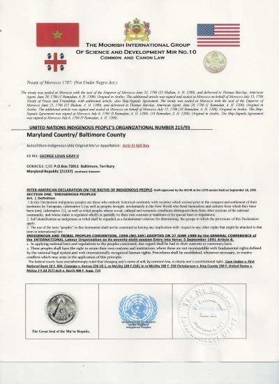 Moorish Nationality Documents