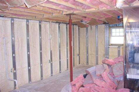 basement spray foam spray foam insulation basement smalltowndjs