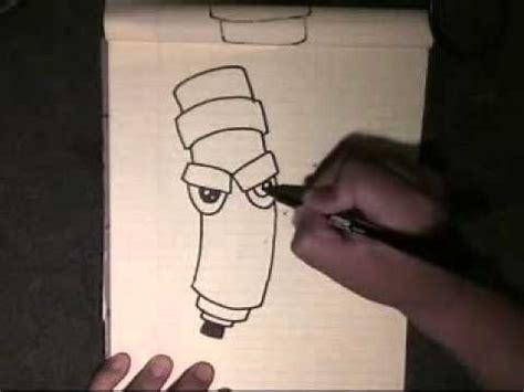 draw  graffiti character step  step cholowiz