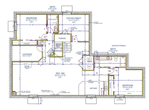 finish floor plan colorado springs custom basement finish floor plan images