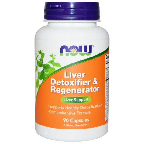 Best Liver Detox Tablets by Now Foods Liver Detoxifier Regenerator 90 Capsules