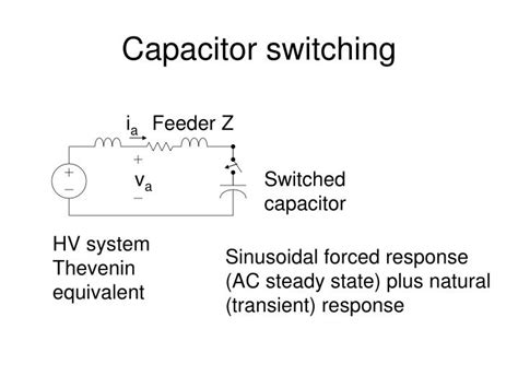 capacitor bank switching pdf ppt transient overvoltages powerpoint presentation id 6749302