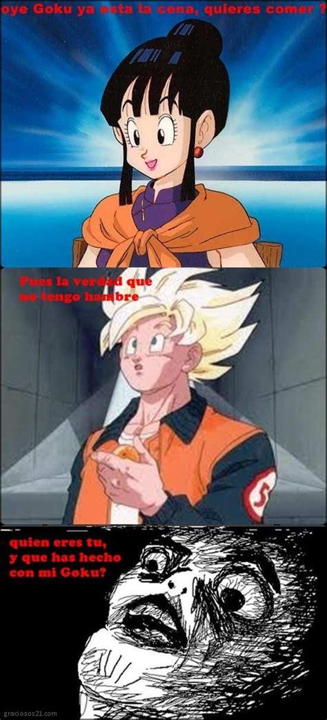 imagenes de goku graciosas graciosos goku no tiene hambre
