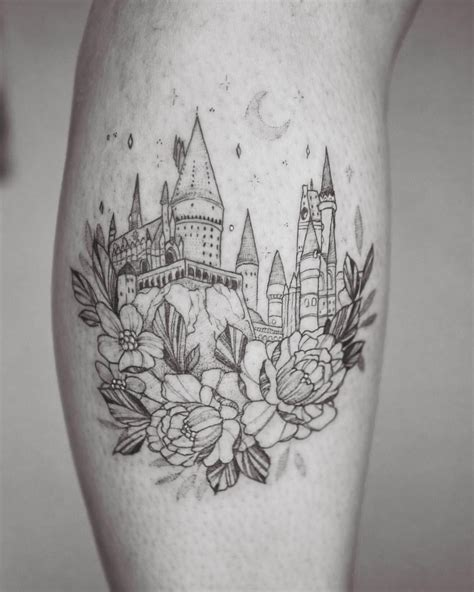 hogwarts castle tattoo pin by lauver on i should ink my skin with your