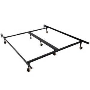 Metal Bed Frame King Walmart Homcom 7 Leg Adjustable Metal Bed Frame W Rollers Fits