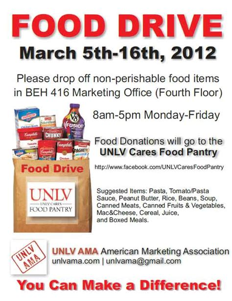 can food drive flyer template pictures to pin on pinterest