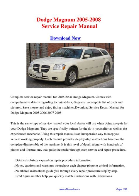 free auto repair manuals 2006 dodge magnum head up display service manual 2008 dodge magnum workshop manual free dodge magnum repair manual 2005 2008
