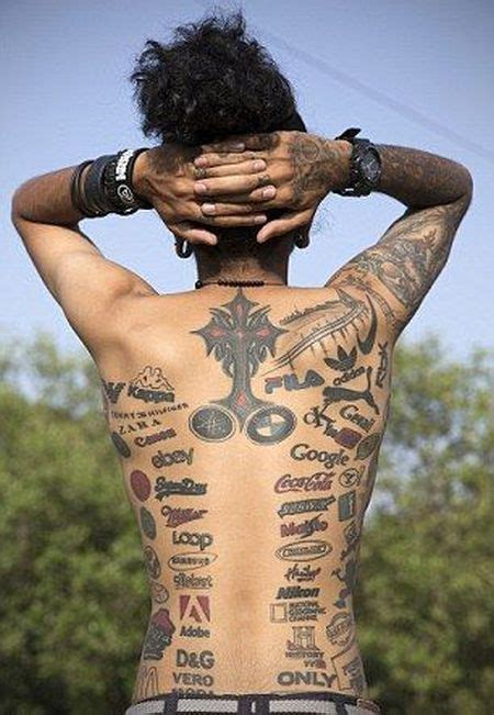 tattoo logo brand meet the man who covered his body with brand logo tattoos