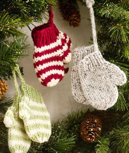 free knit christmas tree ornament patterns knitting