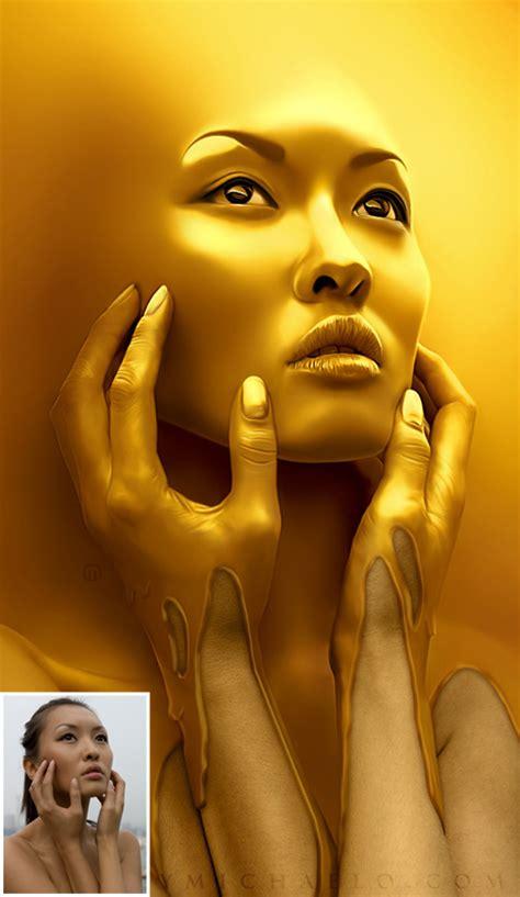 wallpaper gold lady photo manipulation 19