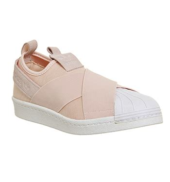 mens adidas superstar slip on halo pink trainers shoes ebay