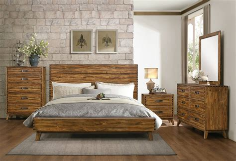 wood bedroom set sorrel rustic solid wood 5 drawer chest by homelegance