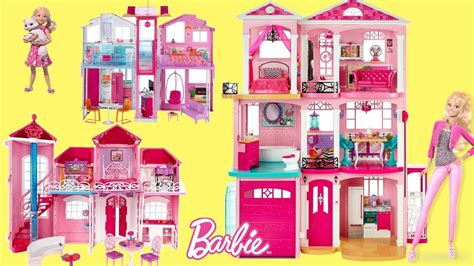 barbie doll dream house videos barbie dreamhouse 2017 6 barbie dollhouse unboxing review baribe dolls full house