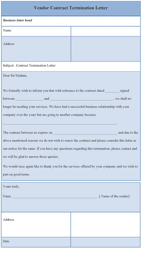 business contract termination letter template 32 termination letter