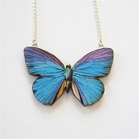milla wooden butterfly necklace by ladybird likes