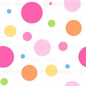 colored dots seamless background tile pink and multi colored by