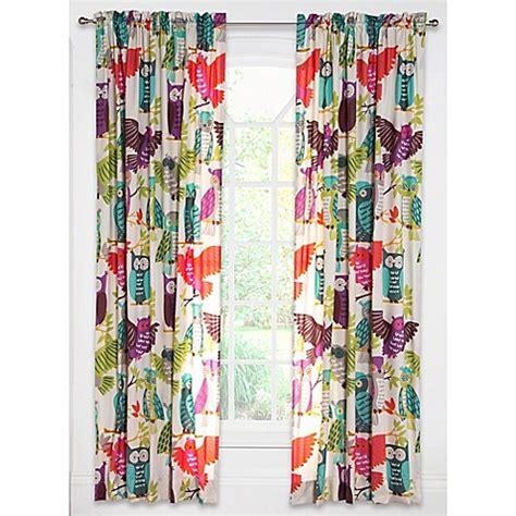 pink owl curtains crayola 174 owl always love you 84 inch rod pocket window