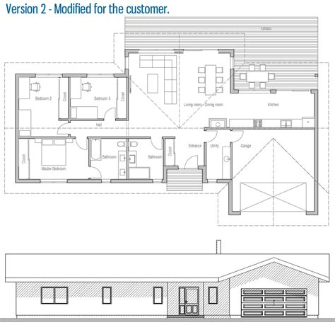 vaulted ceiling house plans modern house ch128 with vaulted ceiling and three bedrooms