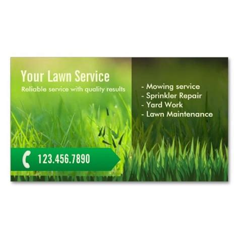 gardening business cards templates 195 best images about lawn care business cards on