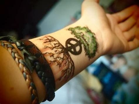 hippie tattoo tree designs for tattoos