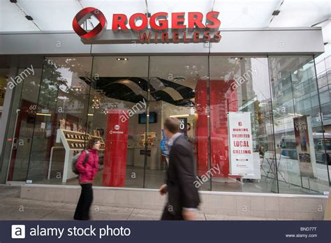 Rogers Cell Phone Lookup Rogers Wireless Telecoms Retail Outlet Shop Store Vancouver Stock Photo Royalty