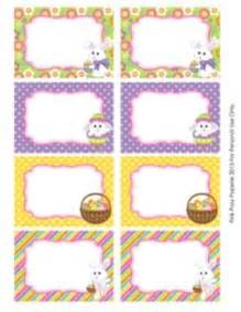 Easter Name Tags Template by Easter Classroom Decor Bin Labels Book Baskets Sweet