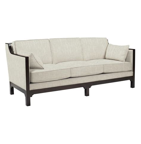 modern wood sofa lila contemporary straight arm exposed dark wood sofa