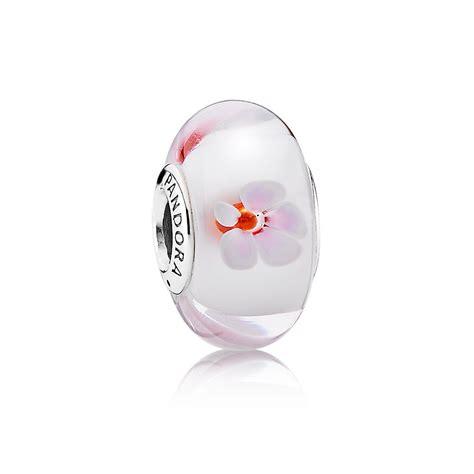 pandora murano pandora pink cherry blossom murano charm 790947 pandora
